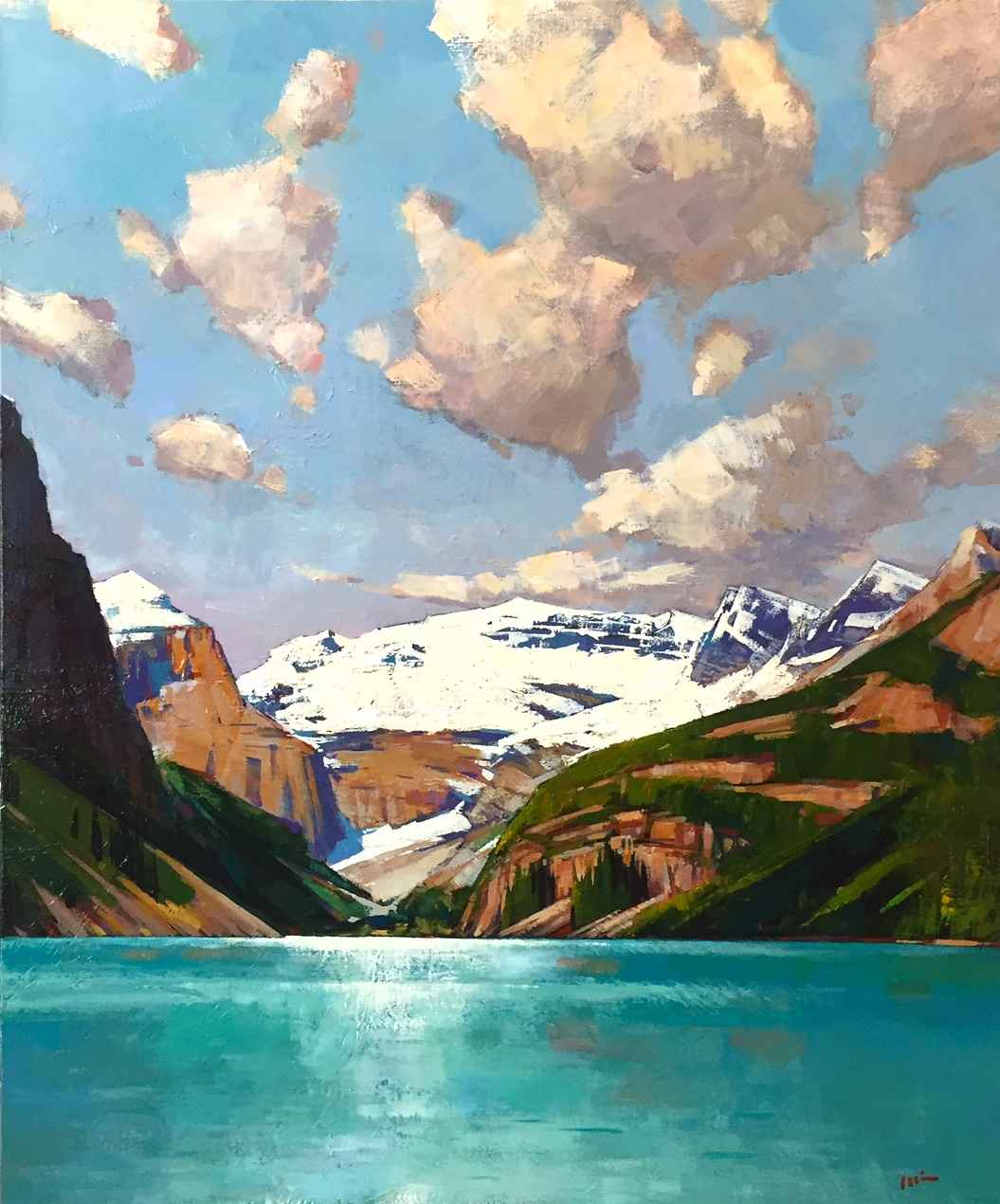 Day Trip - Lake Louise by  Min Ma - Masterpiece Online