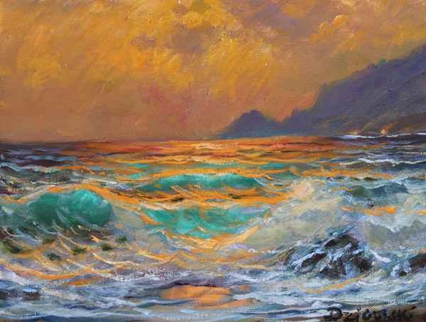 Garrapata Beach Sunset by  A Dzigurski II - Masterpiece Online