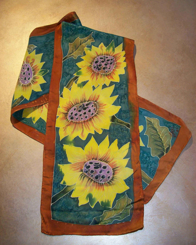 Sunflower Scarf by  Jacqueline Jackson - Masterpiece Online