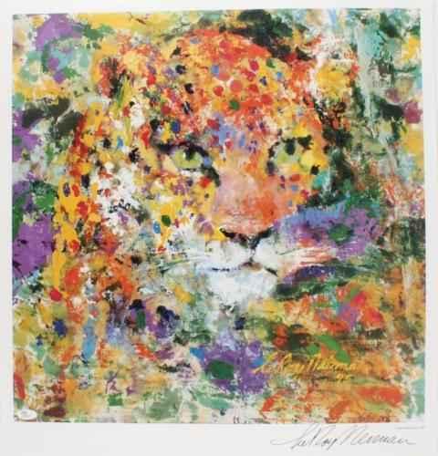 Portrait of the Leopa... by  Leroy Neiman - Masterpiece Online