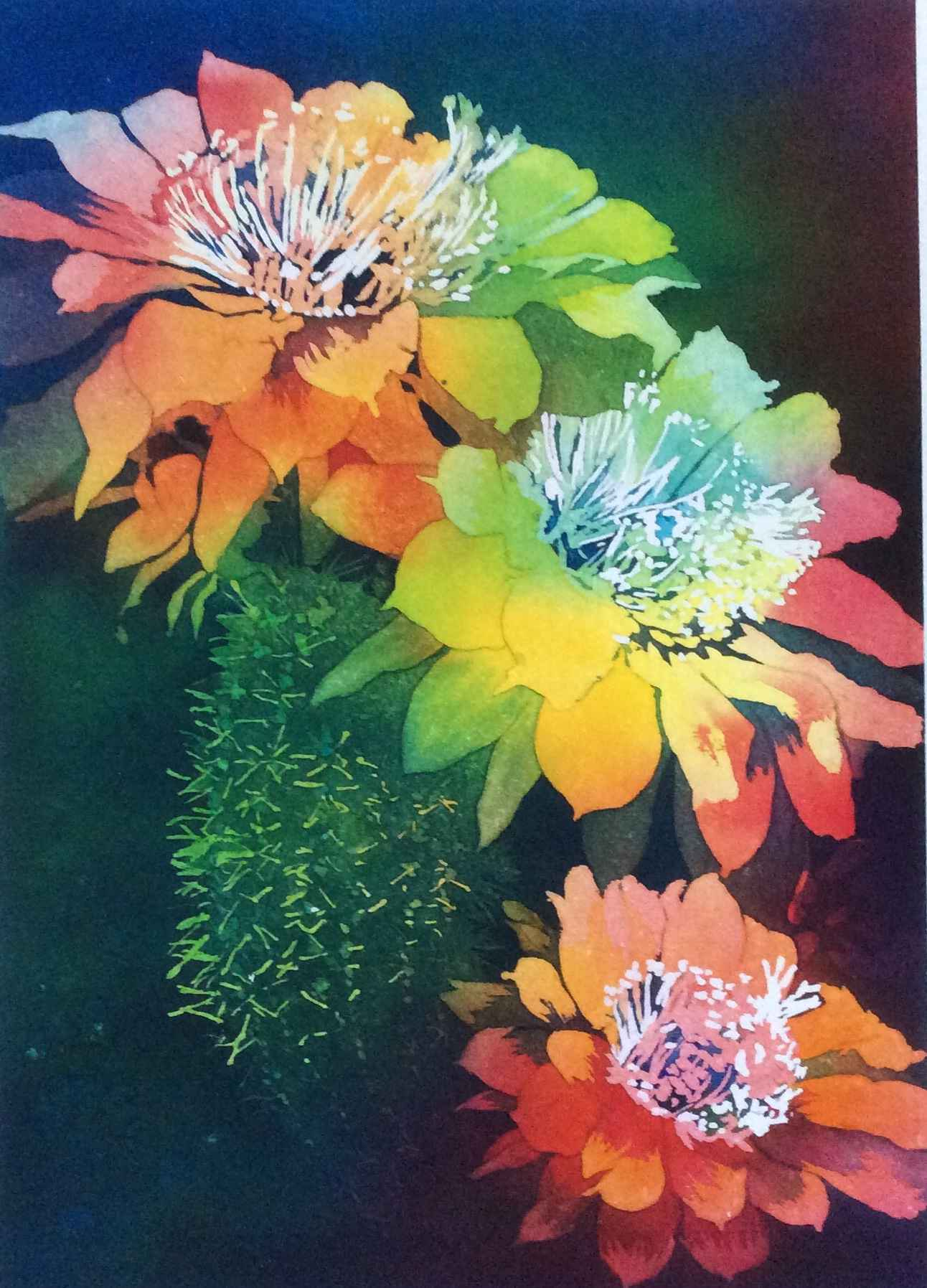Three Blooms by  Mary Bubla - Masterpiece Online