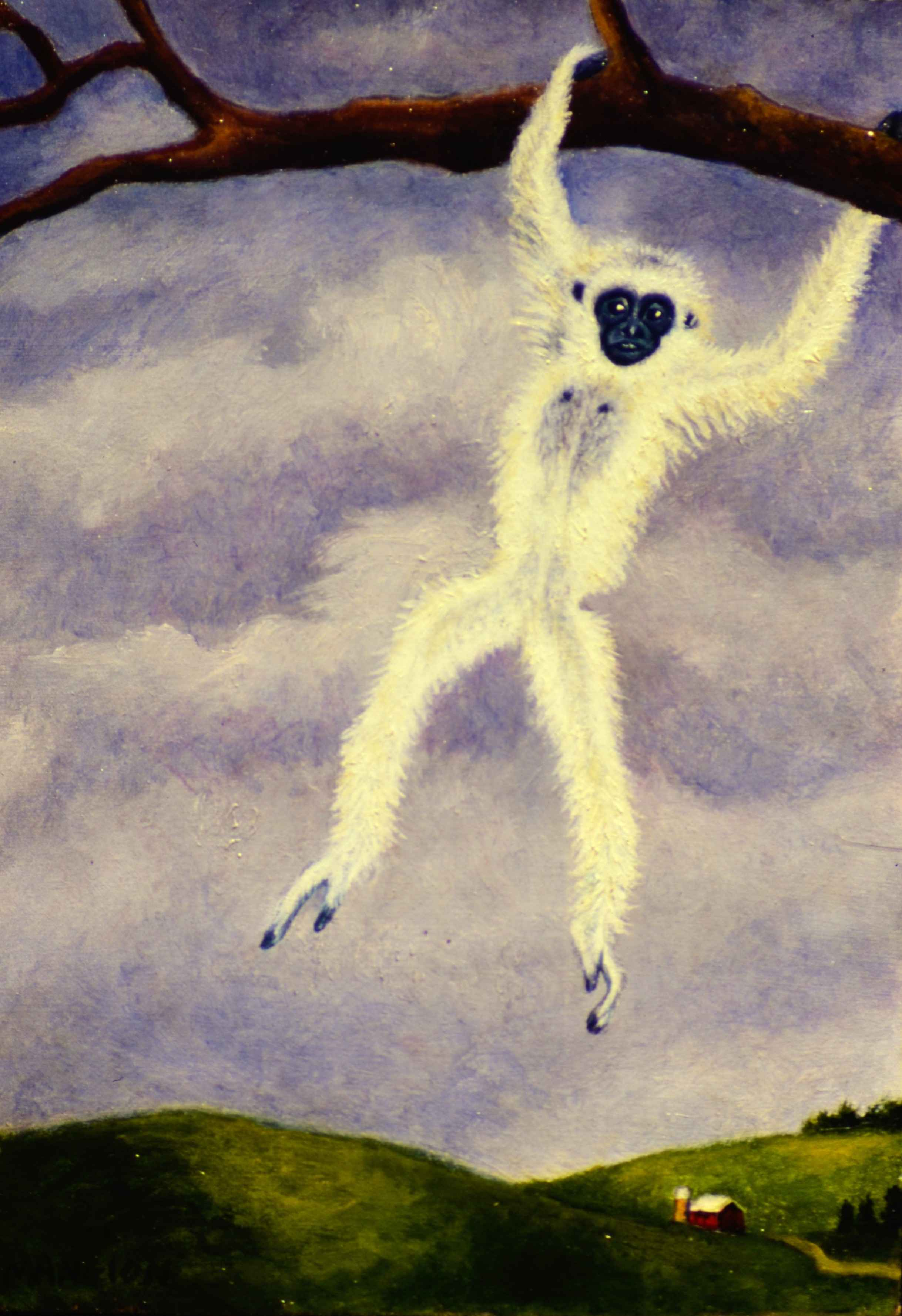 Gibbon over Wisconsin by  Valerie Mangion - Masterpiece Online