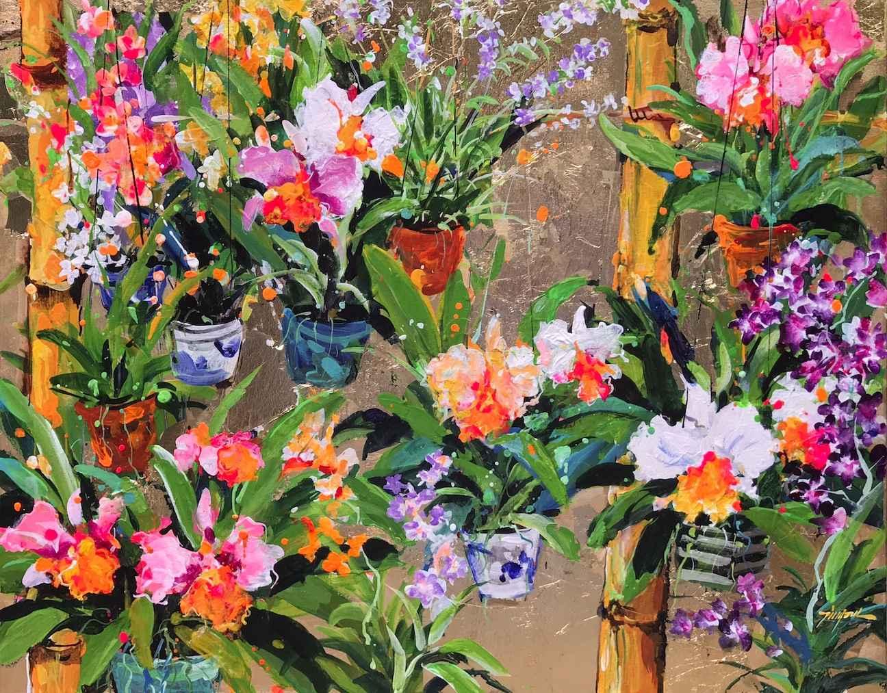 Cattleya Orchids by    - Masterpiece Online