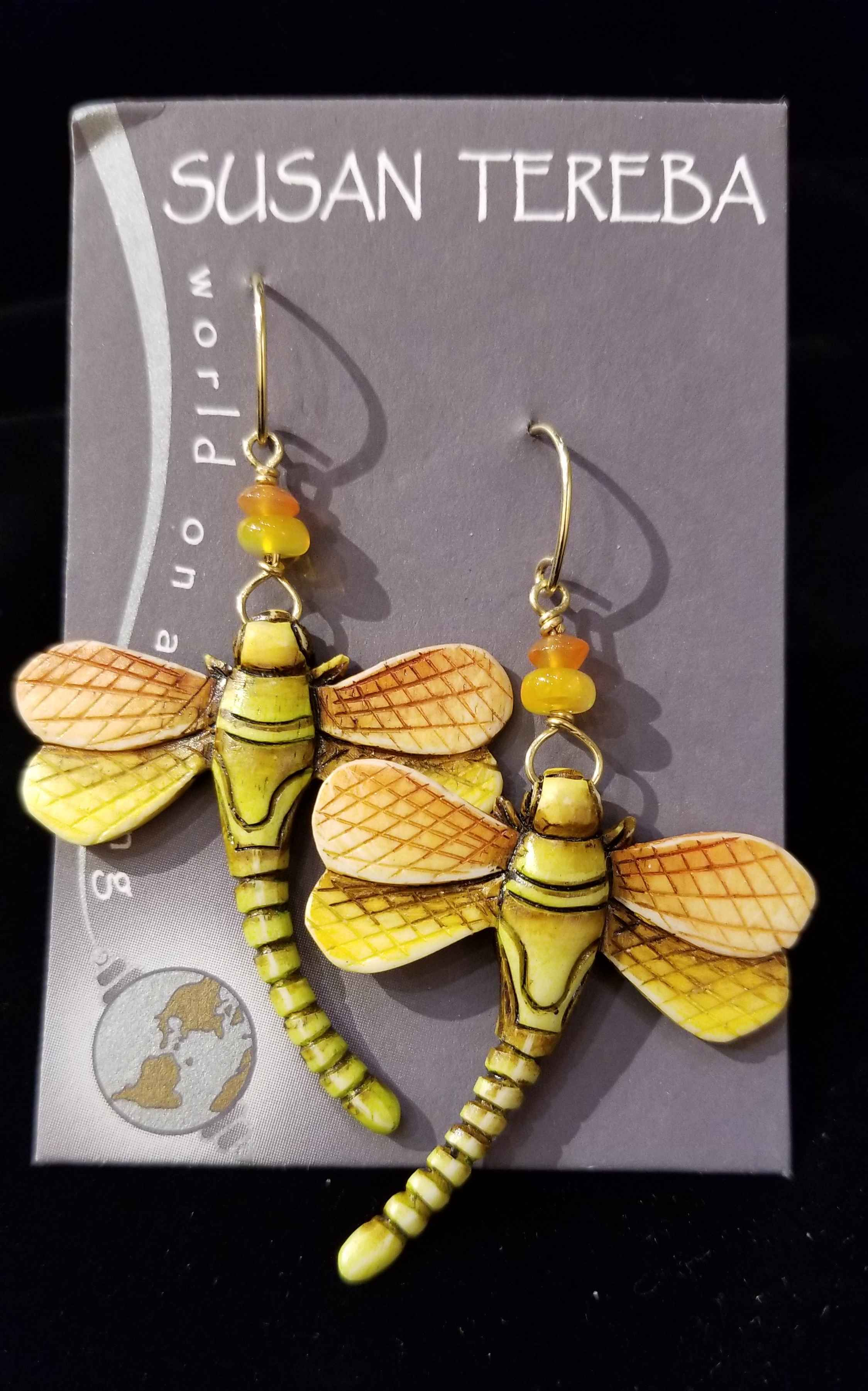 Dragonflies - Orange by  Susan Tereba - Masterpiece Online