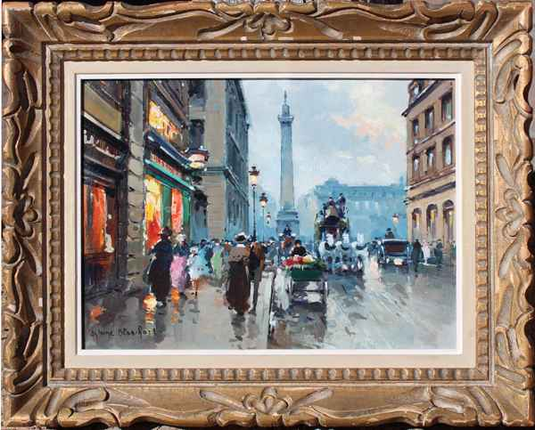 Paris, Rue de la Paix by  Antoine  Blanchard  - Masterpiece Online