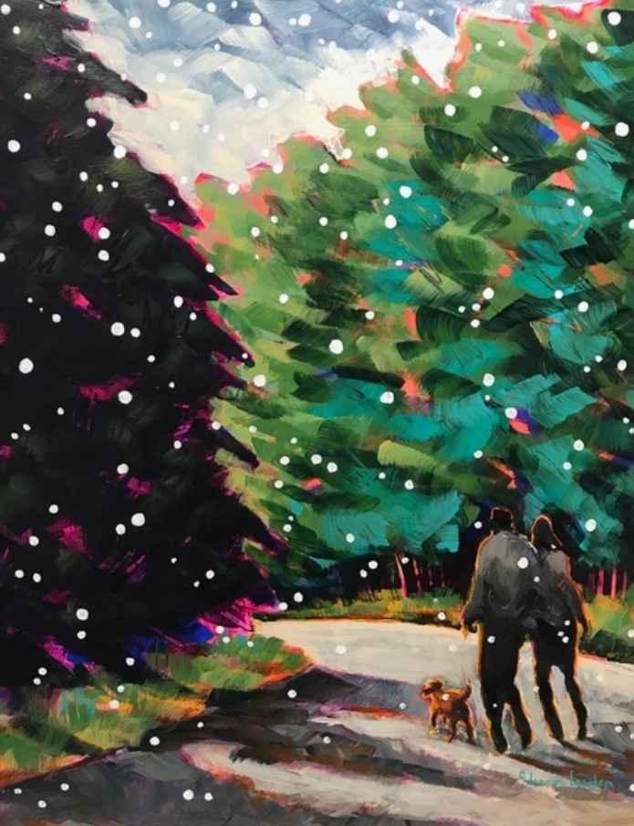 Walking with Snowflak... by  Eleanor Lowden - Masterpiece Online