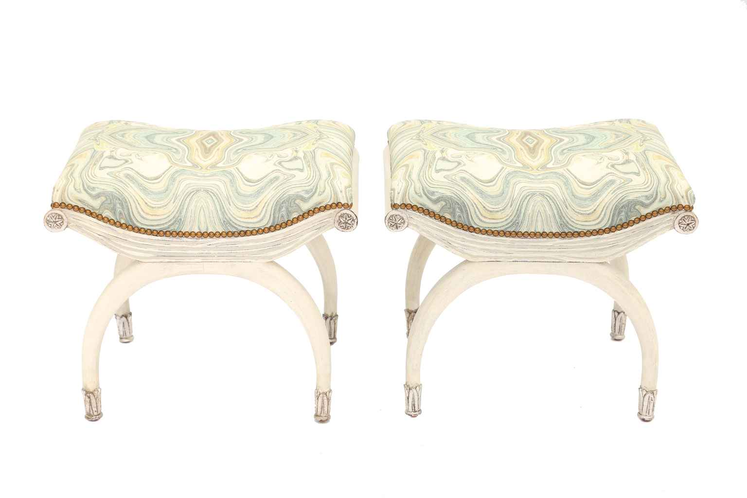 Pair of Painted and P... by  Italian  - Masterpiece Online