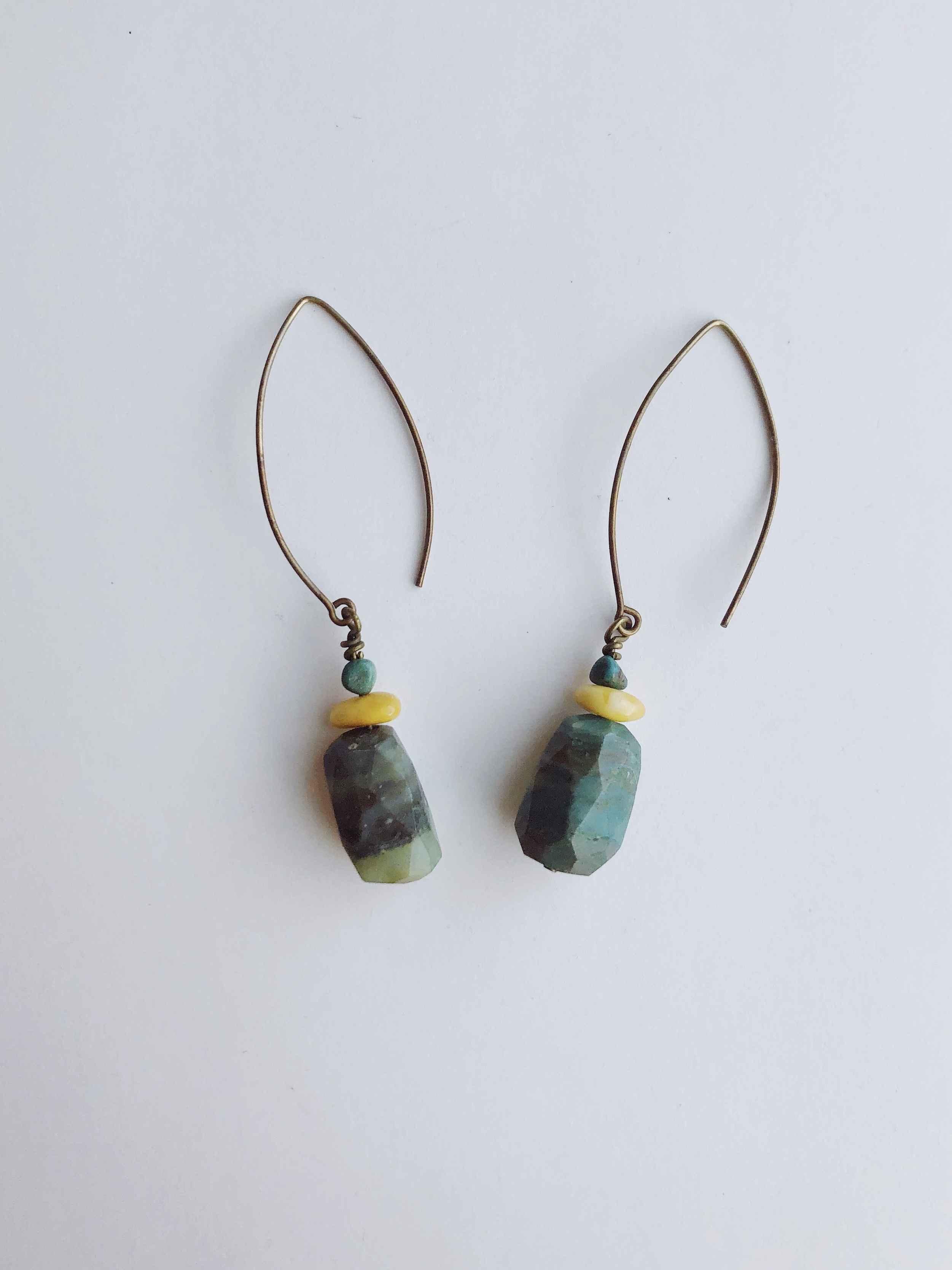 Amazonite Drop Earrin... by  Cathy Miller - Masterpiece Online