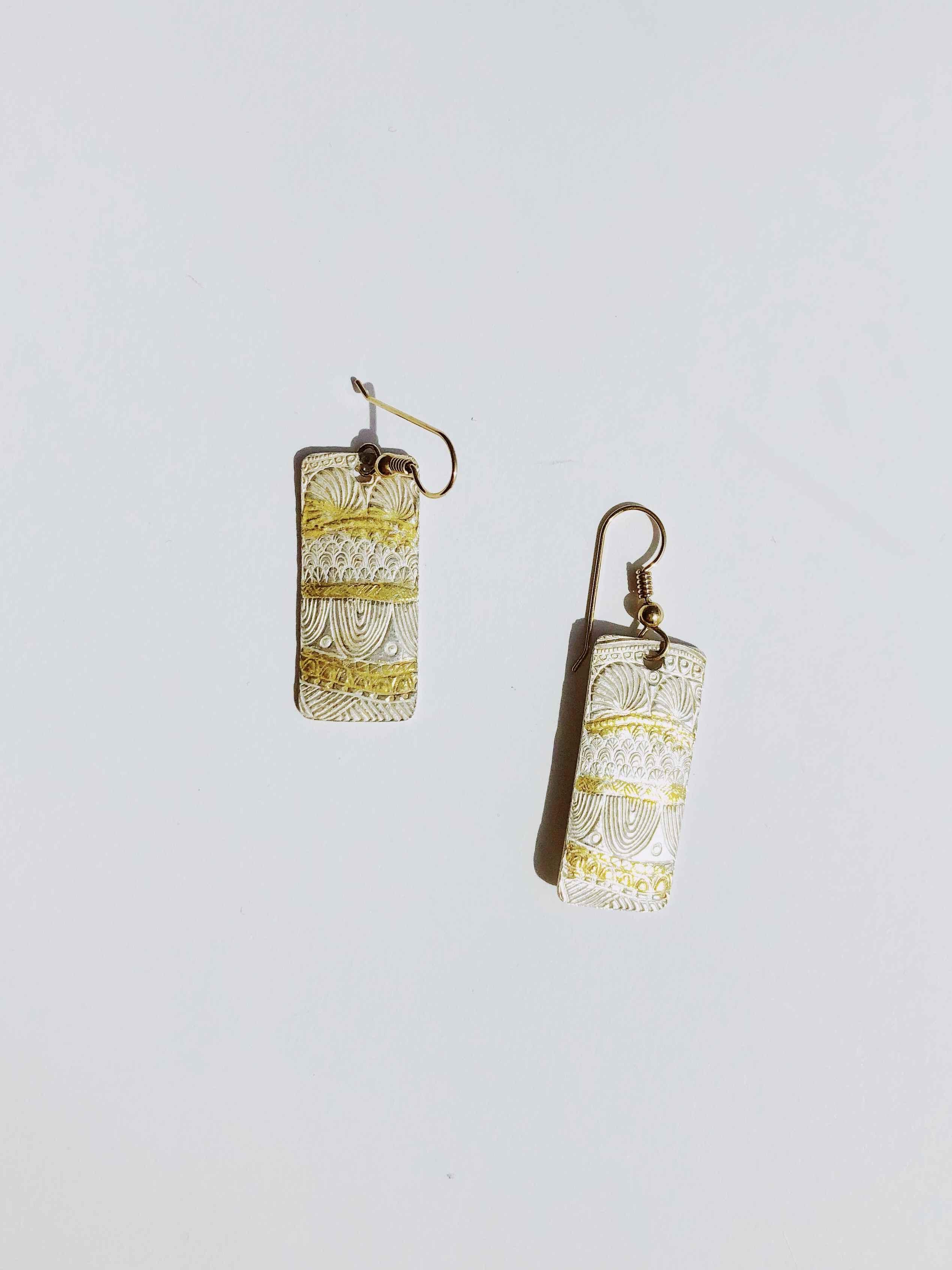 Fine Silver & Gold Ea... by  Nancy Neeb - Masterpiece Online