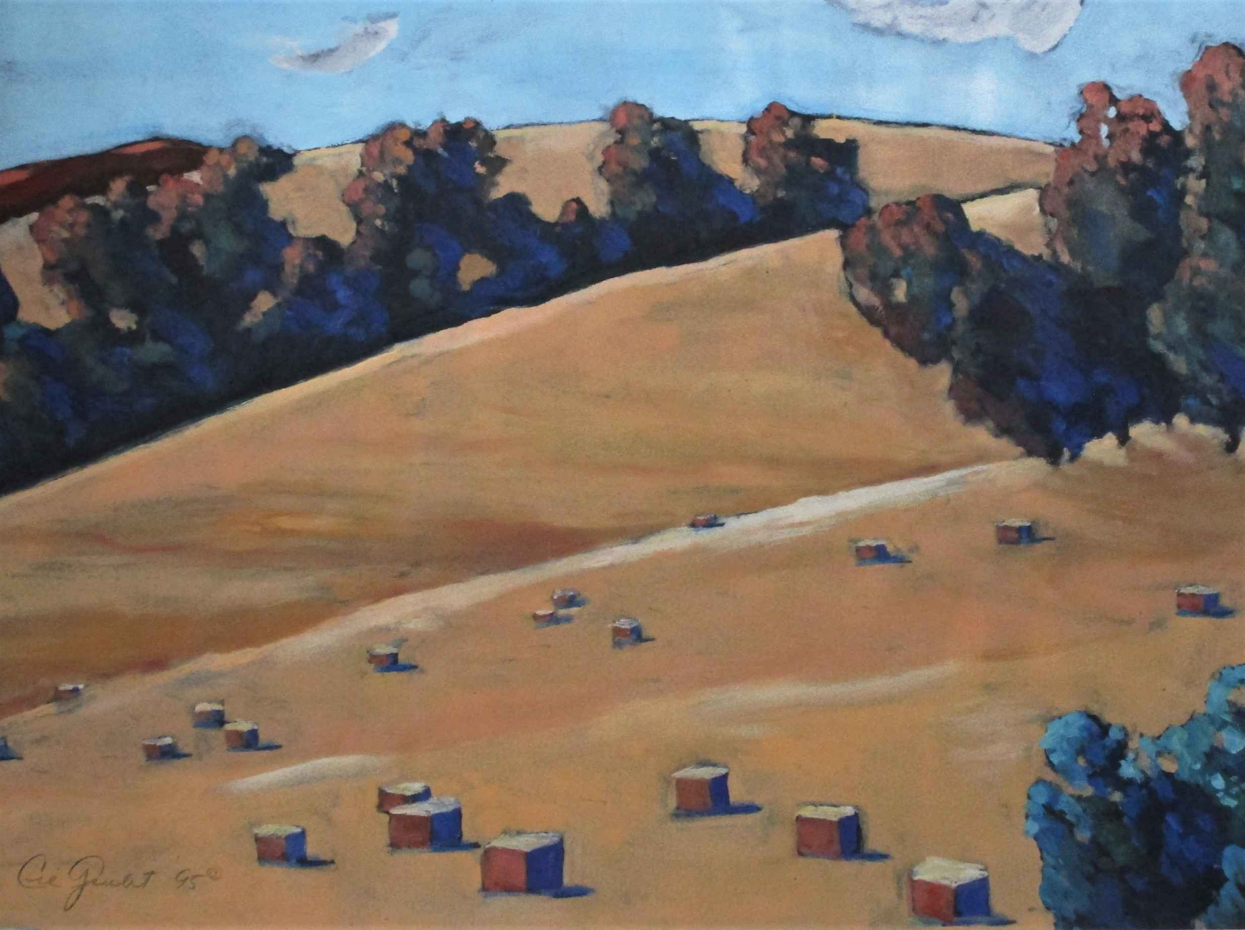 Untitled ( Hay Bales) by  Cie Goulet - Masterpiece Online