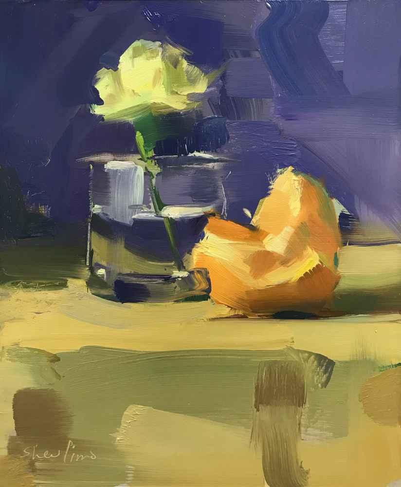 Orange with Carnation by  David Shevlino - Masterpiece Online