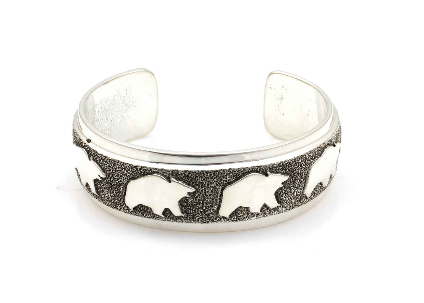 All Metal Bears Cuff ... by  Ben Nighthorse - Masterpiece Online