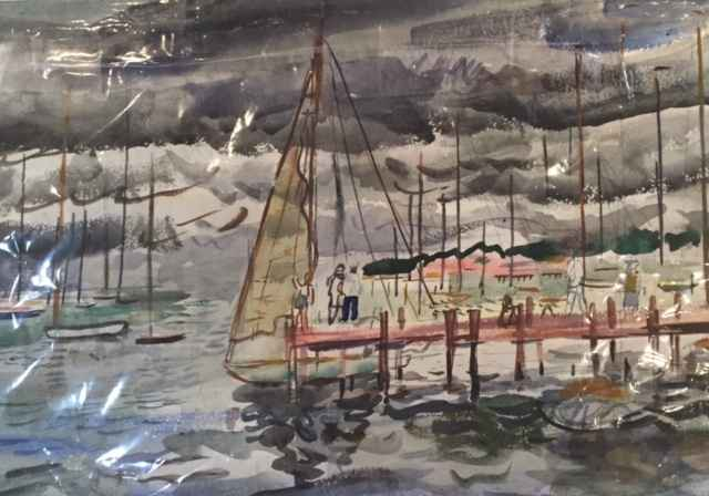 Untitled (Sailboat at... by  Francis Chapin - Masterpiece Online