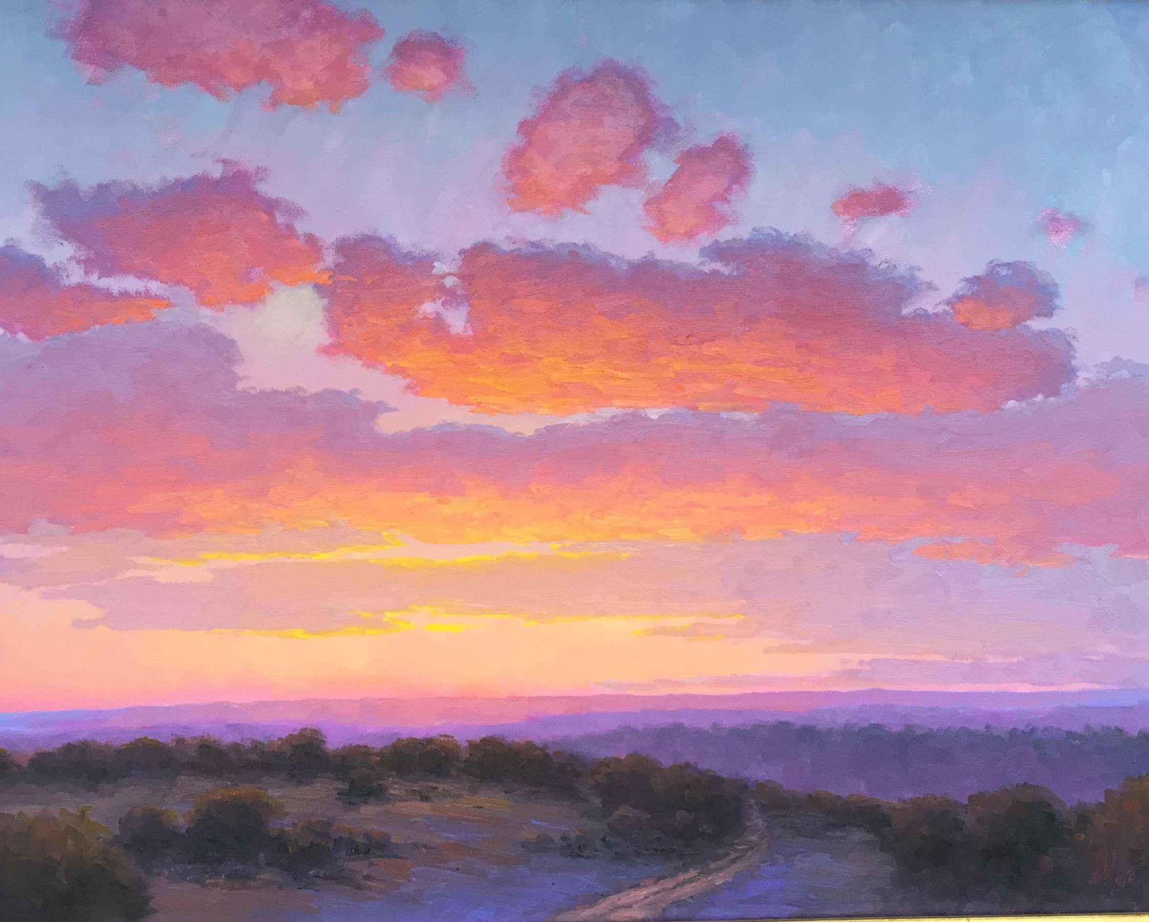 Sundown Over The Hills by  Don Ward - Masterpiece Online