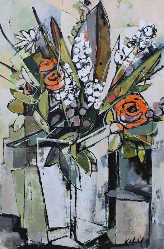 Soft Orange Blooms by  Katie Leahul - Masterpiece Online