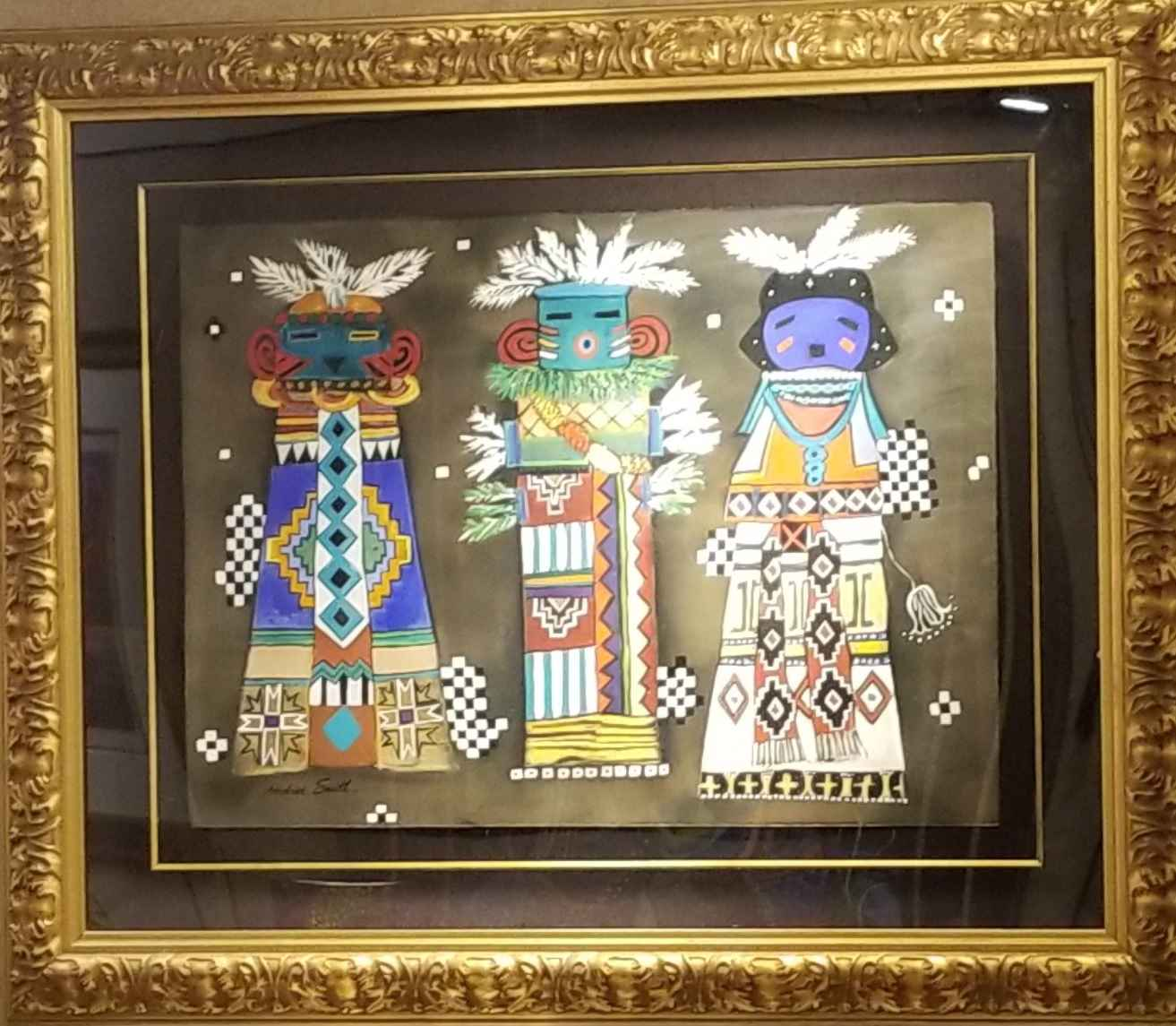 3 Kachinas  by  Andrea Smith