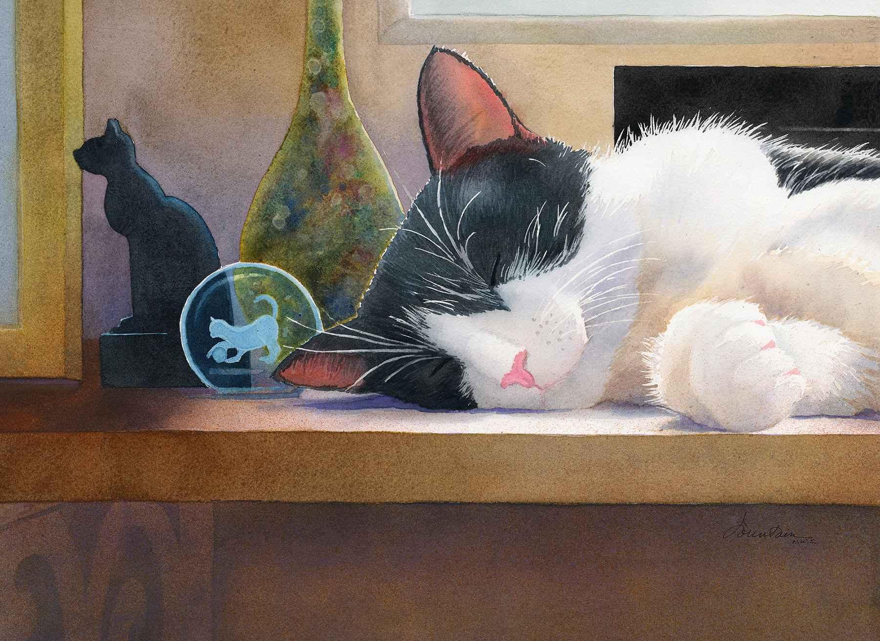 She Dreams of Bastet by  Ellen Fountain - Masterpiece Online