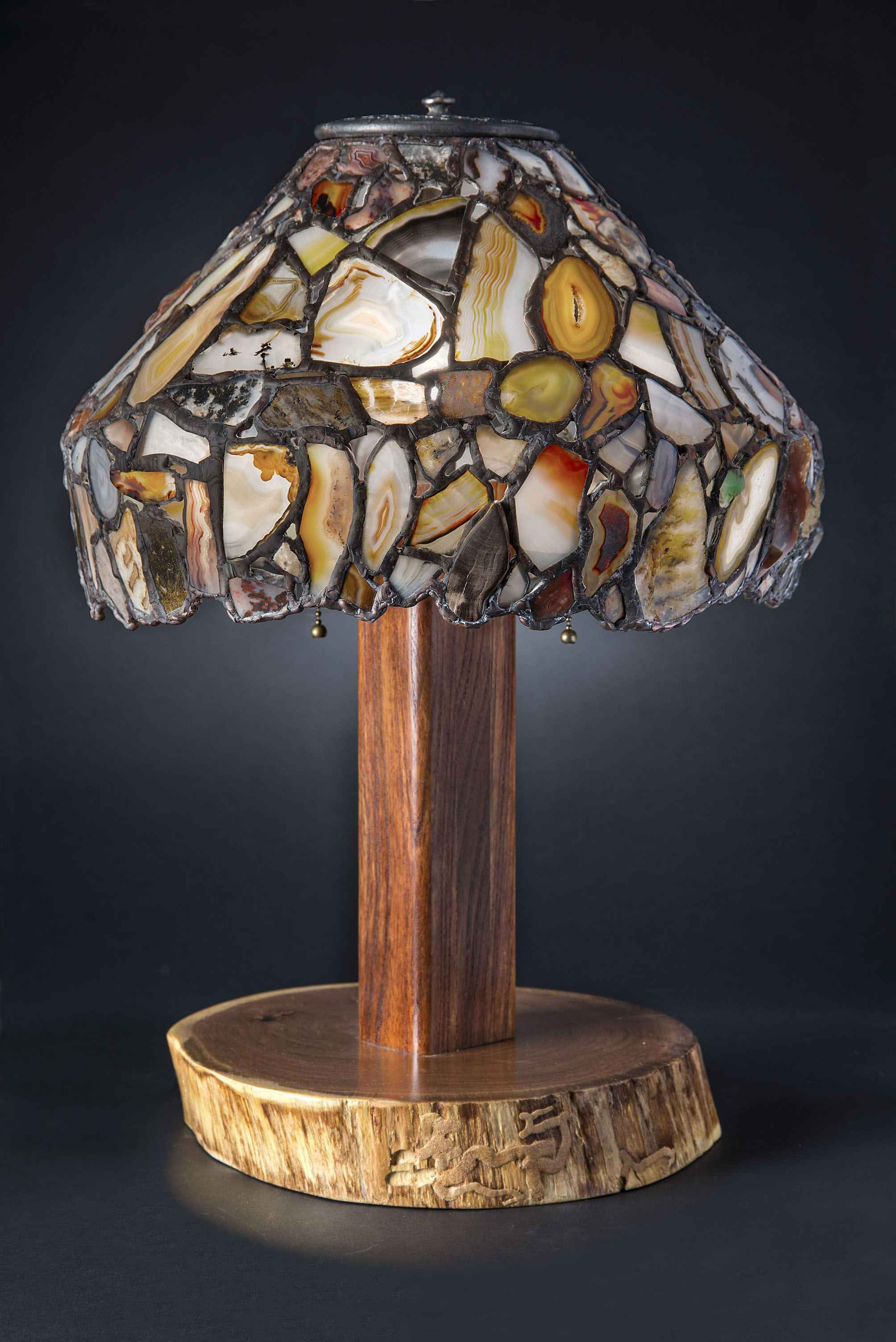Agate Shade Lamp 14 by  Jim Pape - Masterpiece Online
