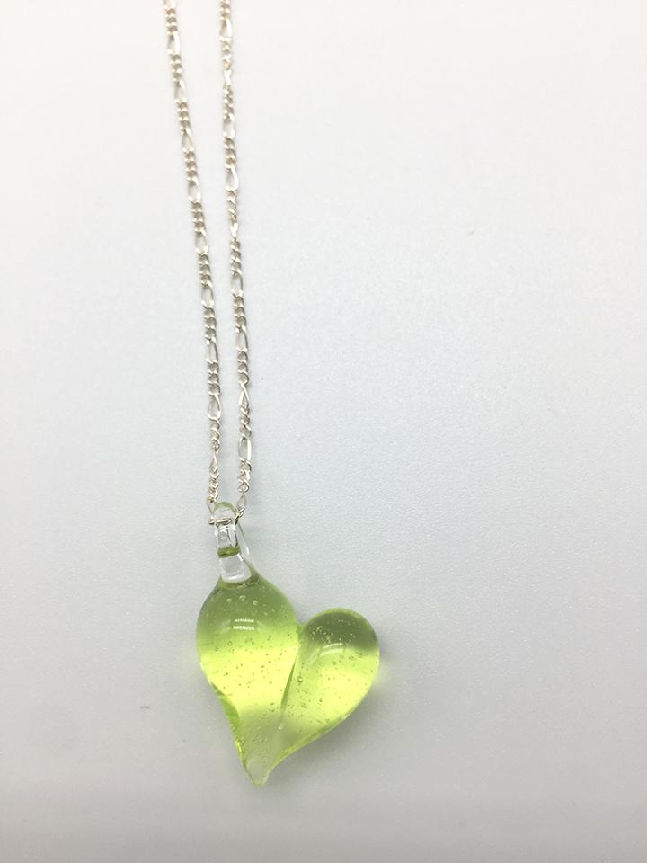 Sublime Heart Pendant on 18