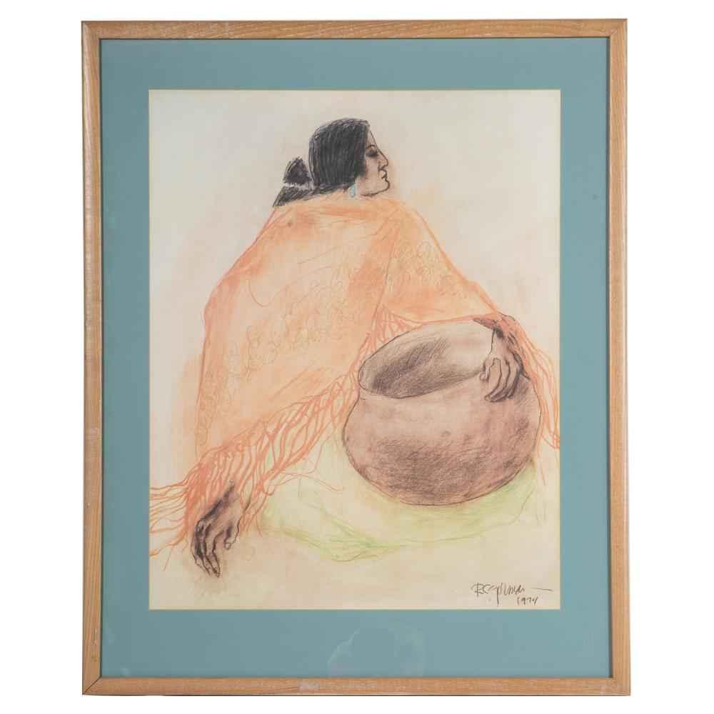 Bernice (Woman with G... by  R.C. Gorman - Masterpiece Online
