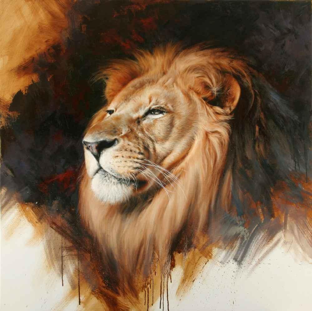 Lion Portrait by  Edward Aldrich - Masterpiece Online