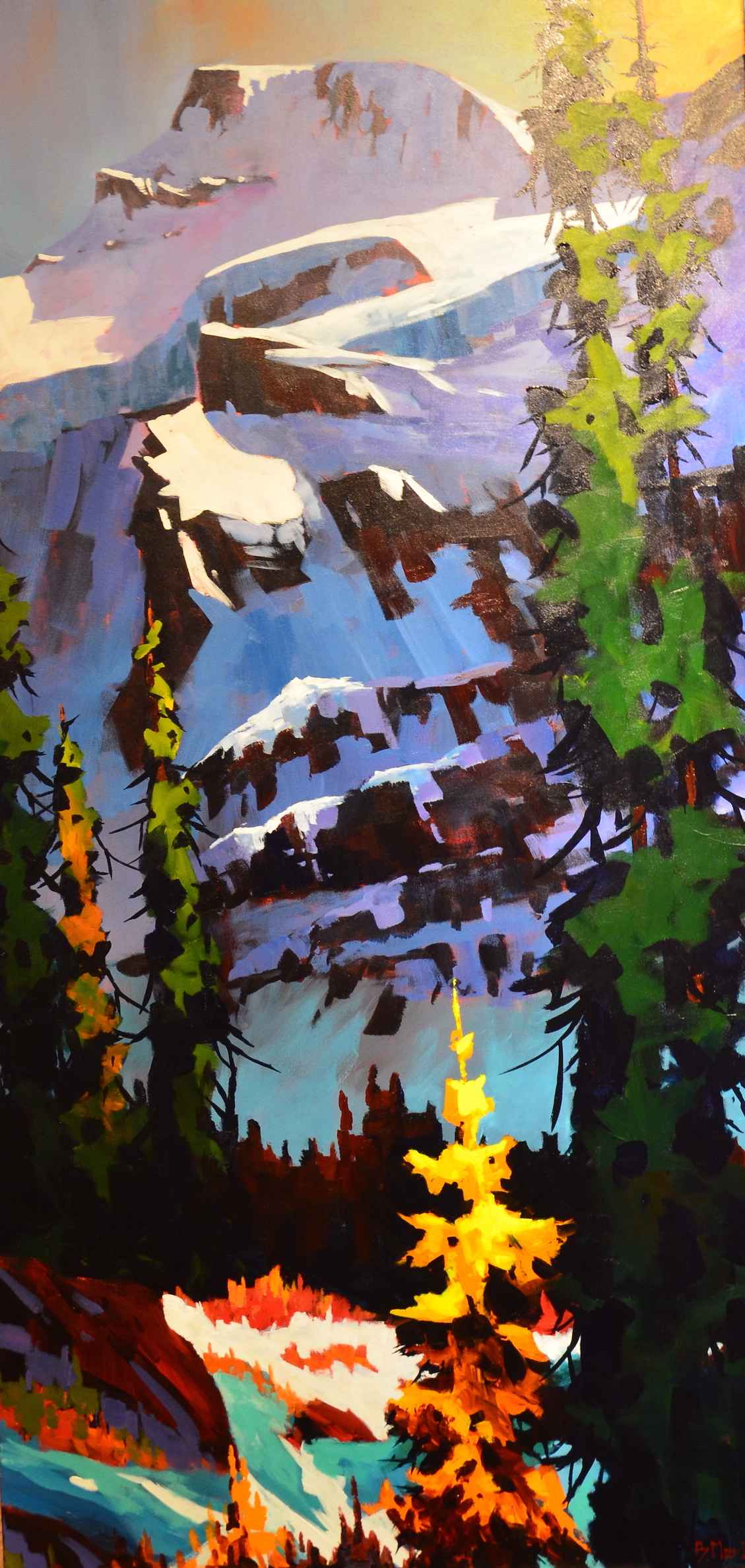 Beneath Mt Fay-Larch ... by  Branko Marjanovic - Masterpiece Online