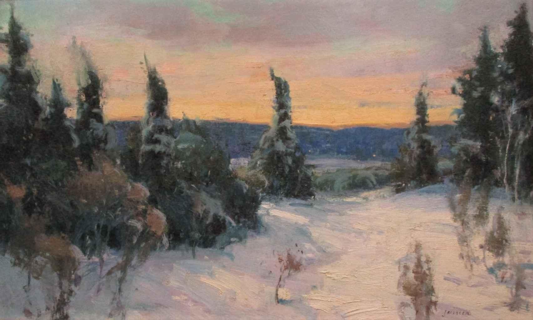 Winter Evening by  Eric Jacobsen - Masterpiece Online