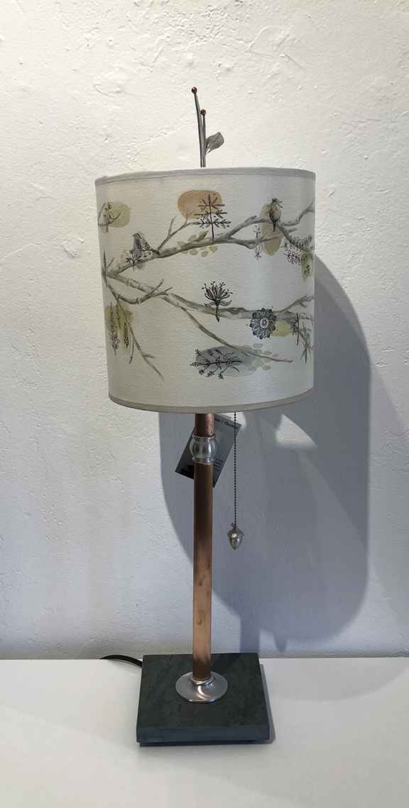 Artful Branch Table Lamp, Giclee Shade