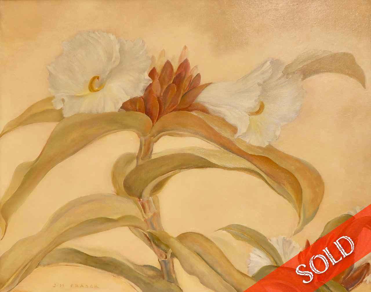 Hawaiian Flower - Cre... by  Juliette May Fraser (1887-1983) - Masterpiece Online