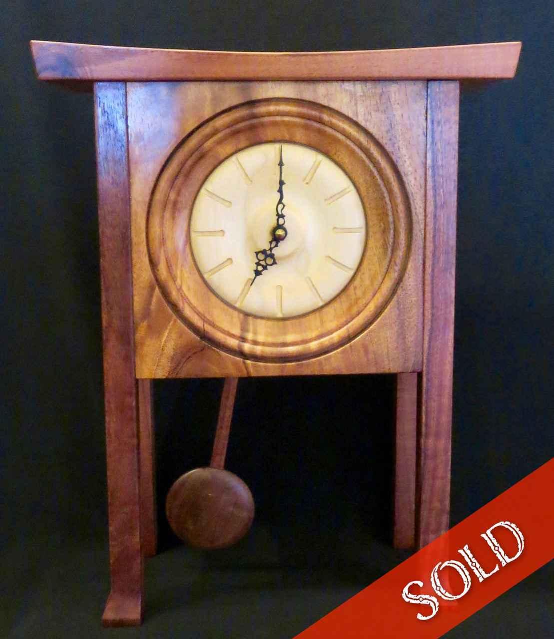 Koa Long Leg Clock by Mr. Parker Nicholson - Masterpiece Online