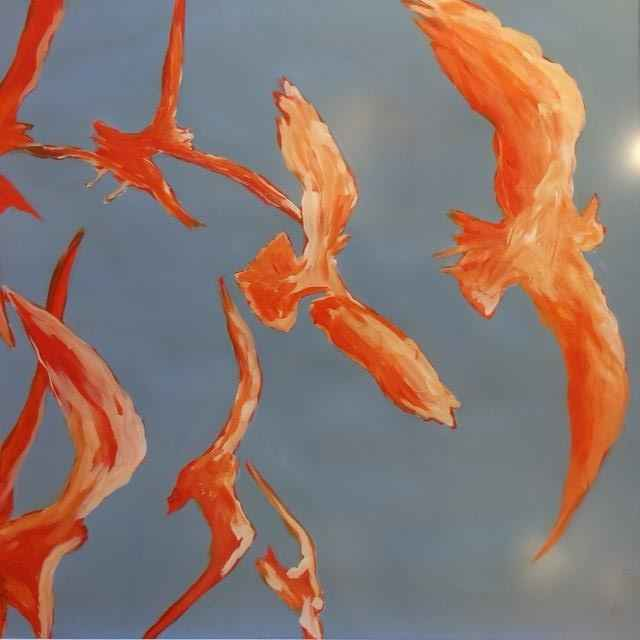 Orange Birds #2 by  Steve Lyons - Masterpiece Online