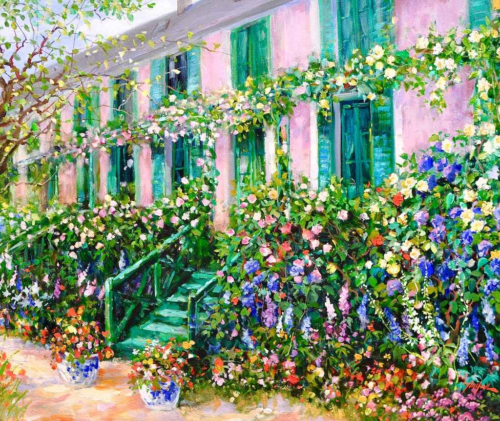 Monet's House and Gar... by  Tinyan Chan - Masterpiece Online