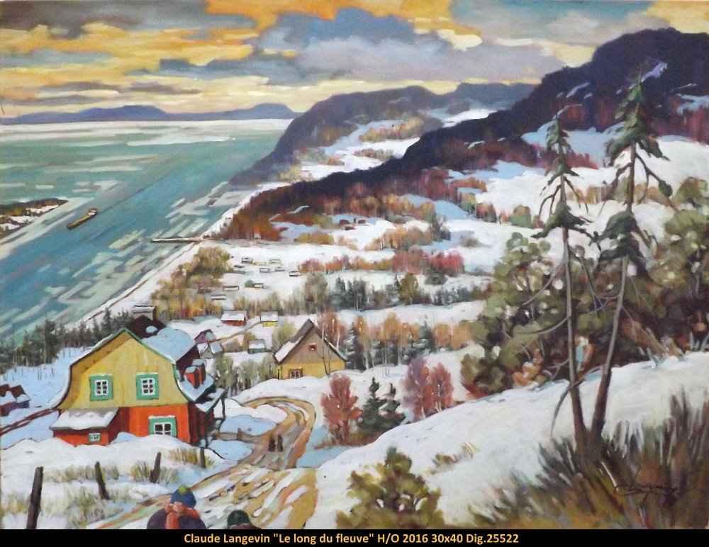 Le long du fleuve 102... by  Claude Langevin - Masterpiece Online