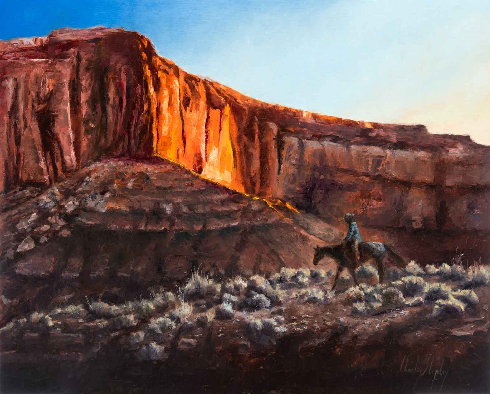 Below the Rimrocks by  Charley Shipley - Masterpiece Online
