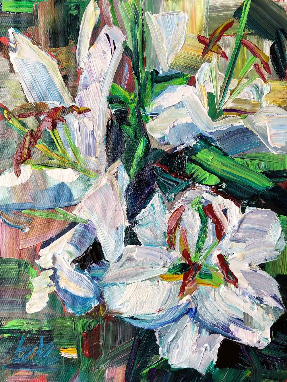 White Lilies  by  Brooke Borcherding