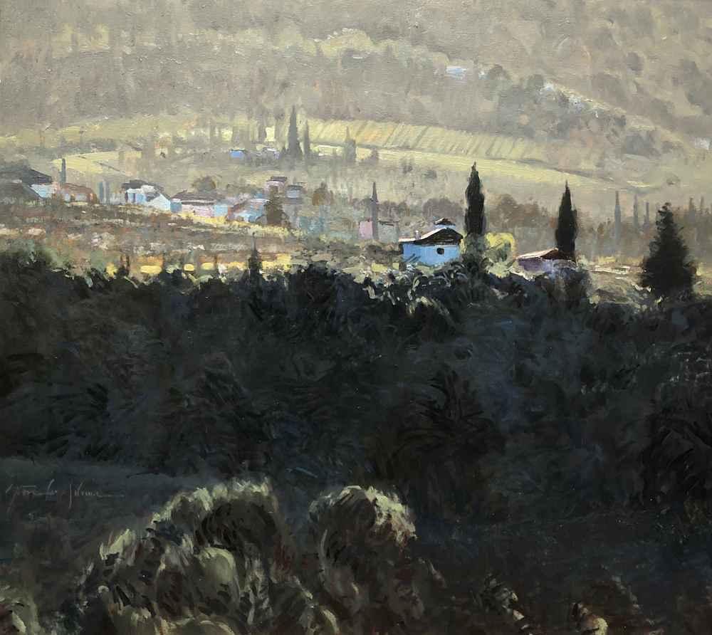 Hillside - Tuscany  by  Steven Lee Adams