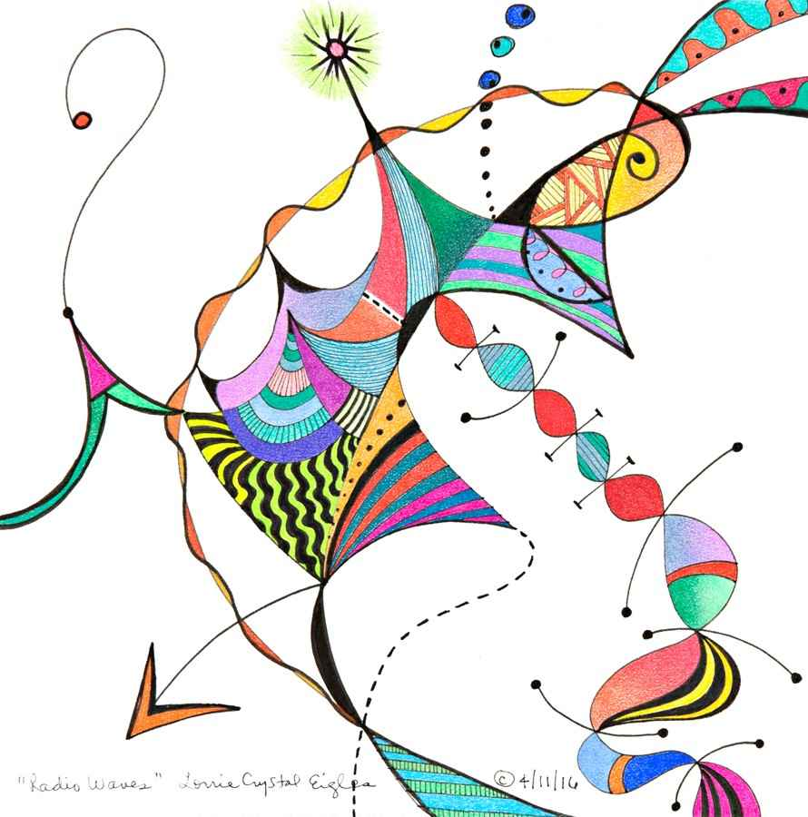 Radio Waves represented  by  Lorrie Eigles