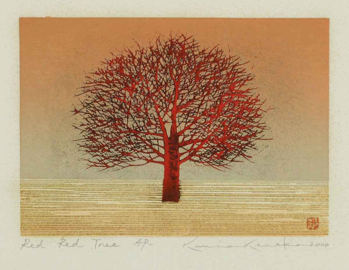 Red Red Tree by  Kunio Kaneko - Masterpiece Online