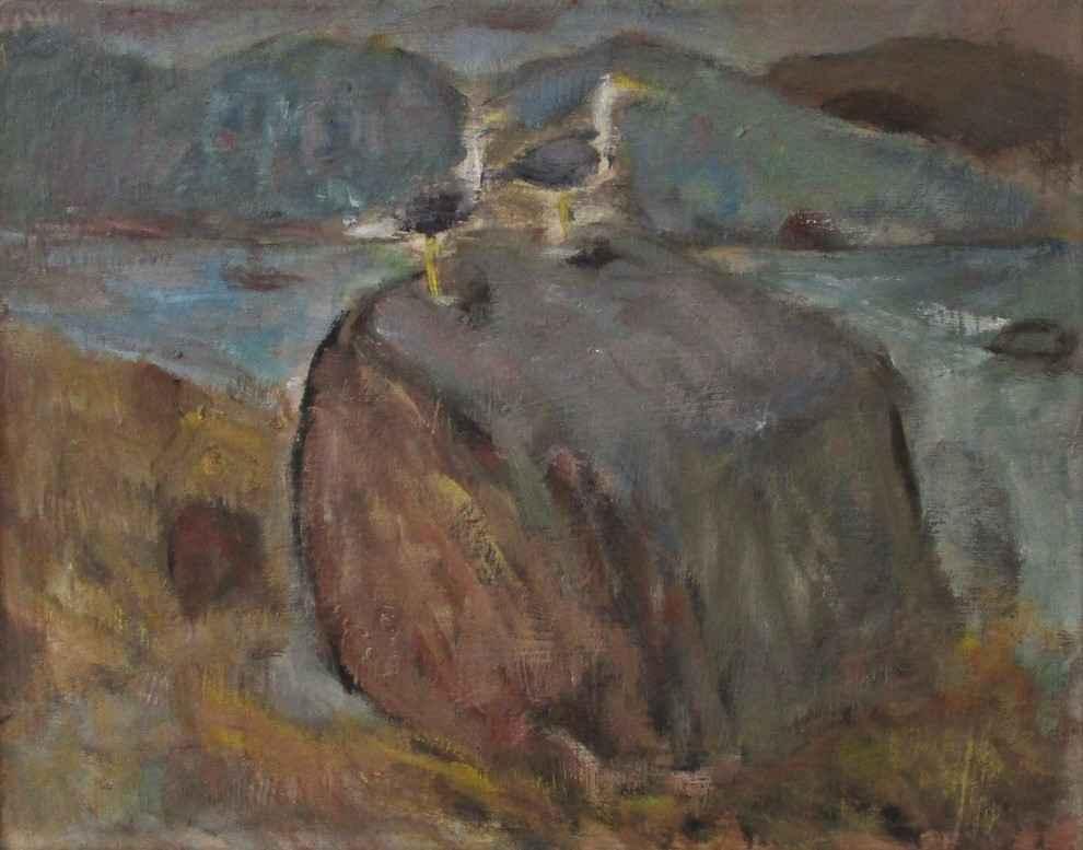 Untitled ( 2 gulls) by  Albert Clarence Runquist - Masterpiece Online