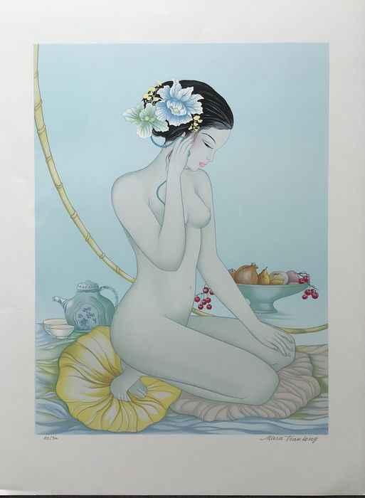 Aurelie, Nude with Te... by  Mara Tran Long - Masterpiece Online