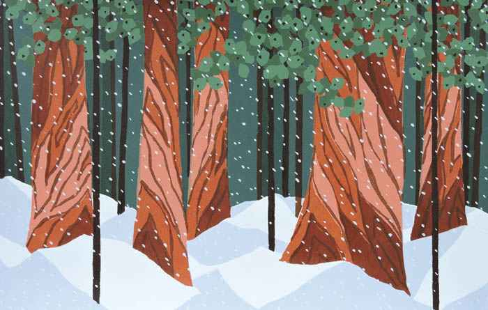 Snowfall #2 by  Kathy Bonnema Leslie - Masterpiece Online