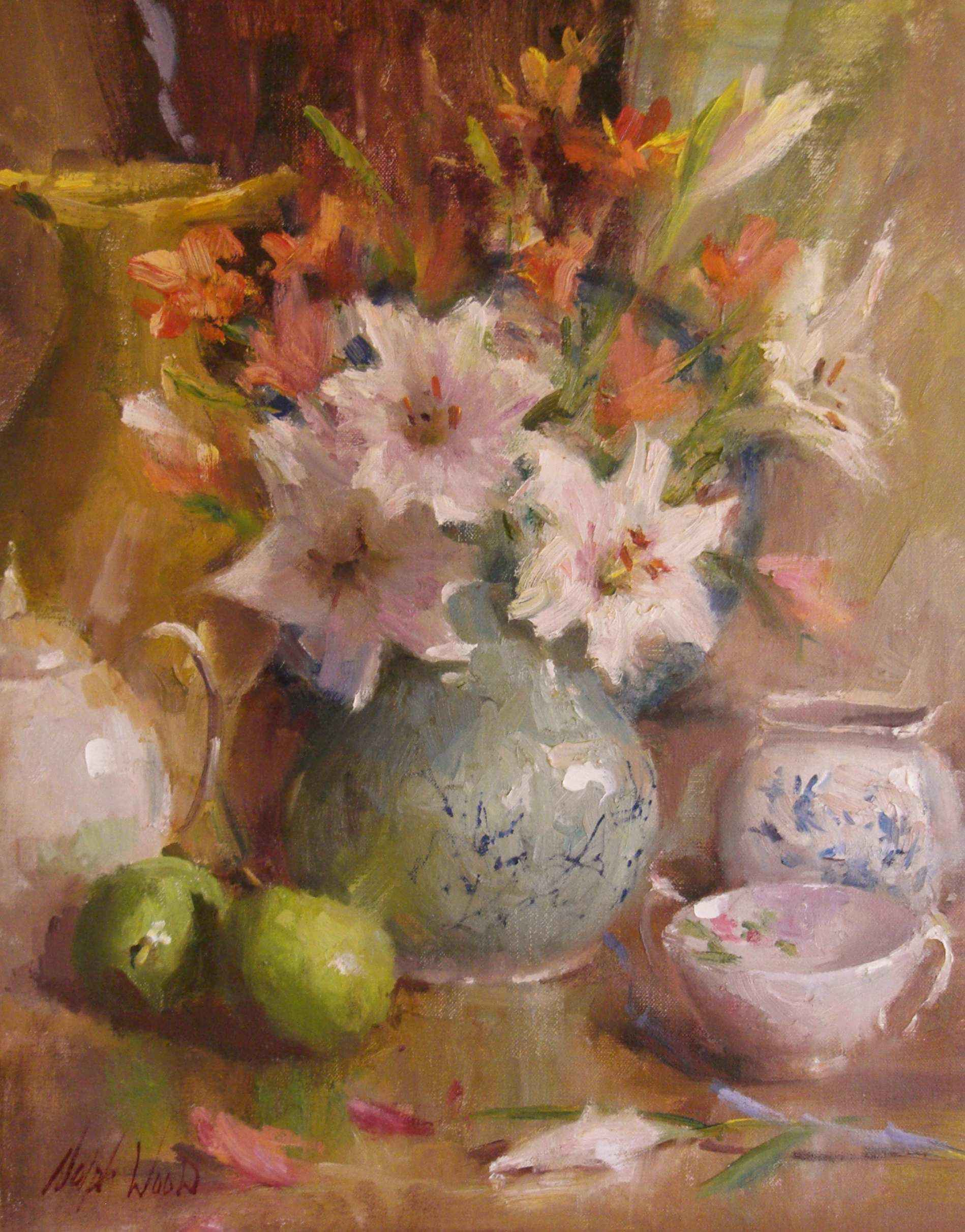 Bouquet of Lilies by  Mary Dolph Wood - Masterpiece Online