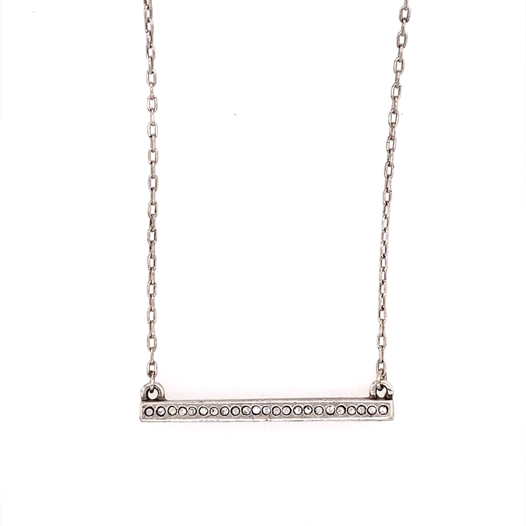 Axis Necklace in Silver, All Crystal