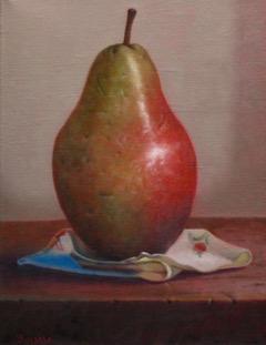 Pear on Cloth