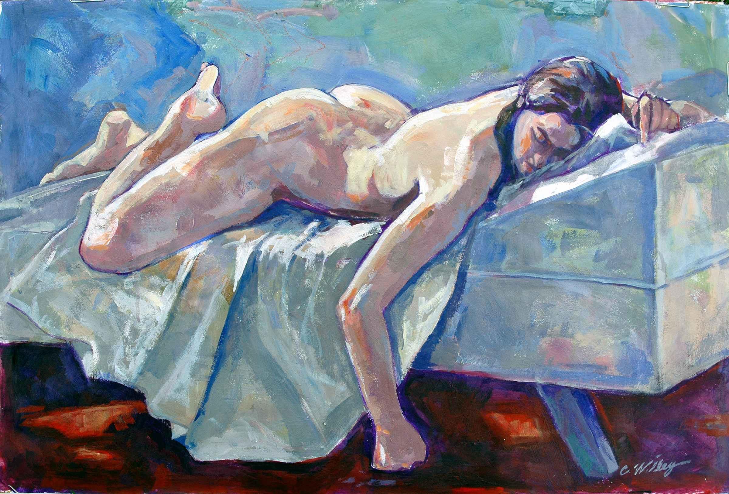 Cassie Reclining by  Chris Willey - Masterpiece Online