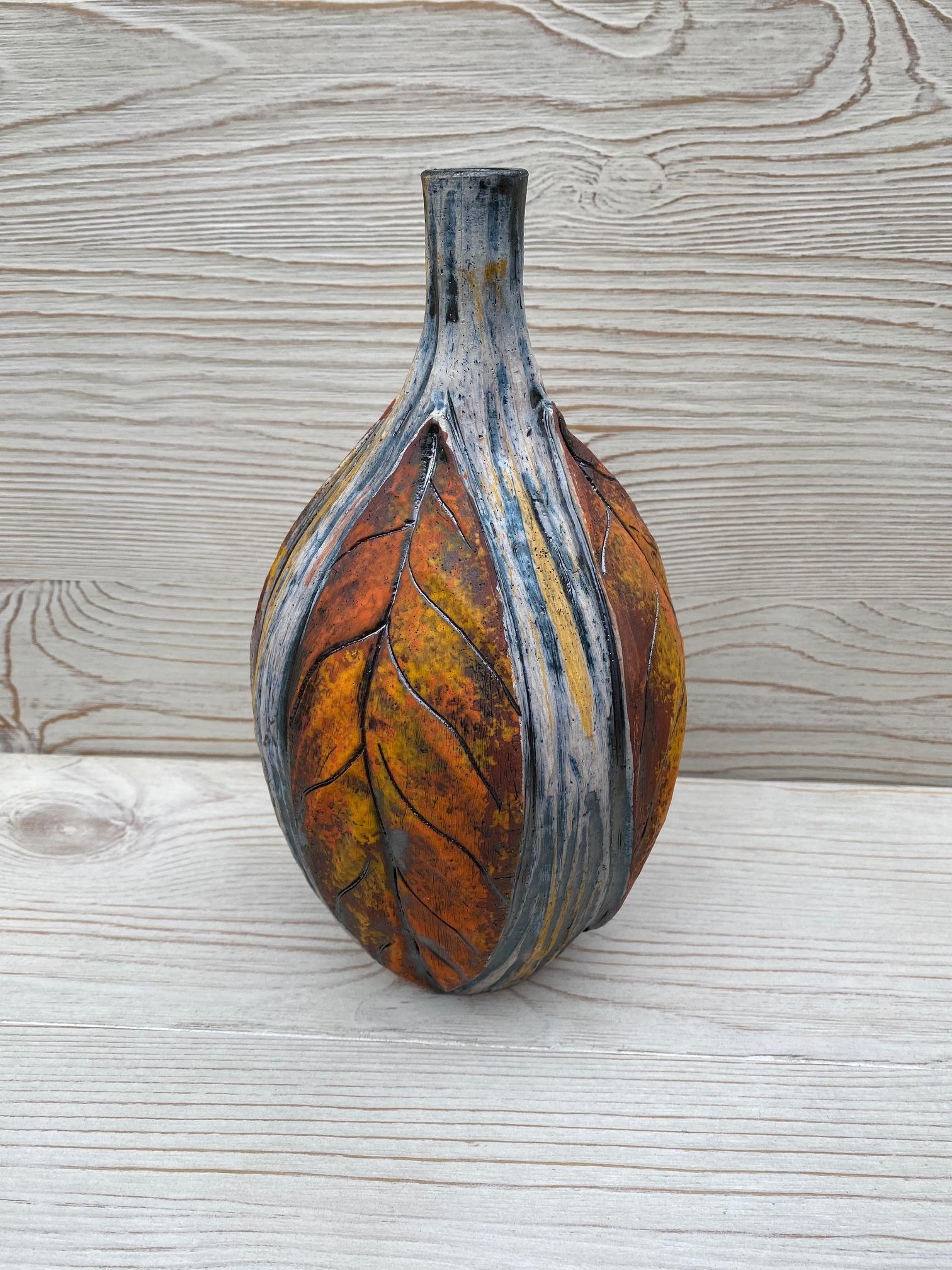 Orange Leaf Bottle