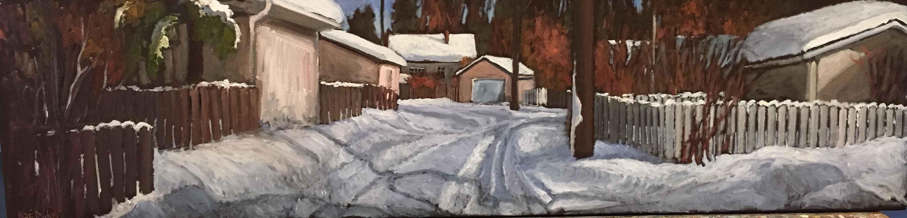 Winter Garages by  Kari Duke - Masterpiece Online