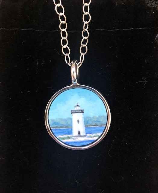 #268 Charm Lighthouse... by  Nell Mercier - Masterpiece Online