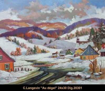 Au Degel  20301 by  Claude Langevin - Masterpiece Online