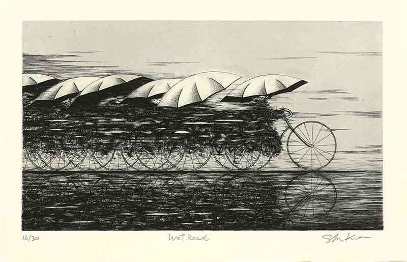 Wet Road by  Shigeki Kuroda - Masterpiece Online